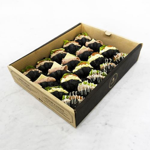 Picture of Mini Charcoal Croissant Sandwich Catering Box