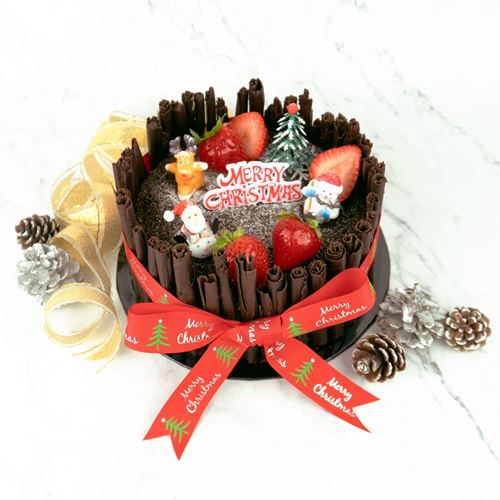 Picture of Black Forest Christmas Log