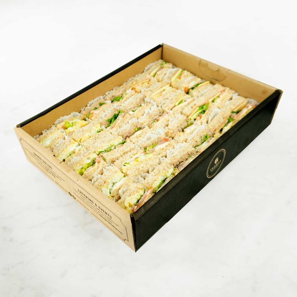 Grilled Chicken & Tuna Mayo Sandwiches Catering Box