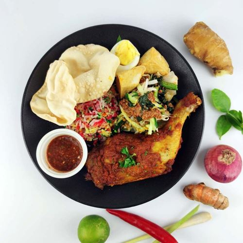 Picture of Nasi Hujan Panas with Baked Spiced Chicken SET