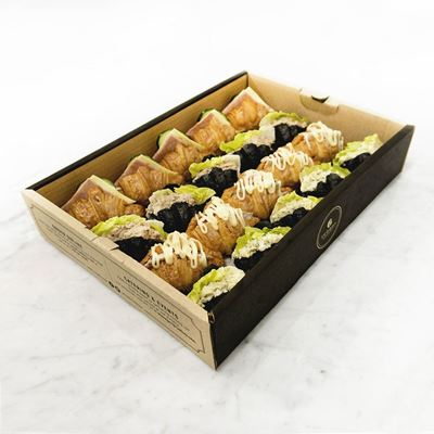 Picture of Mini Mixed Butter-Charcoal Croissant Sandwich Catering Box