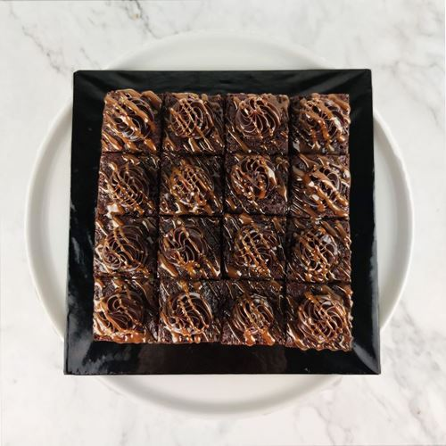 Picture of Mini Caramel Brownies (16pcs/tray)