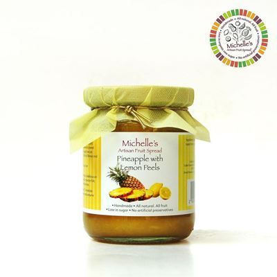 Picture of Pineapple with Lemon Peels  Artisan Jam Spread