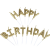Picture of Gold Alphabet Happy Birthday Candle
