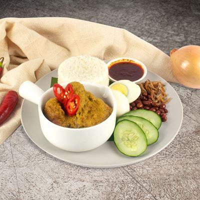 Picture of Nasi Lemak with Chicken Rendang