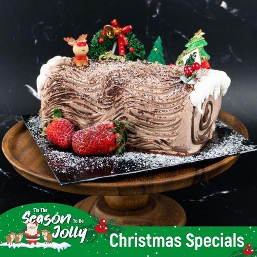 Picture of [XMAS2020] Chocolate Hazelnut Log Cake