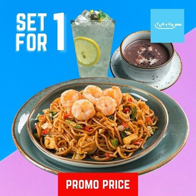 Picture of Fried Mee Mamak with Shrimp Set by Tuk Tuk