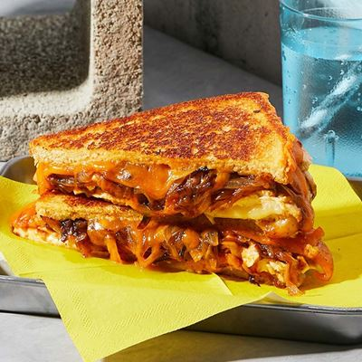 Picture of BBQ Chicken Grilled Cheese Sandwich