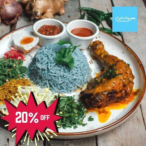 Picture of Nasi Kerabu Basmati Ayam Percik by Tuk Tuk