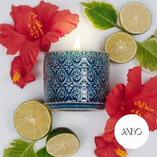 Picture of Scented Beeswax Candle - GRATITUDE by Anbo (Blue)
