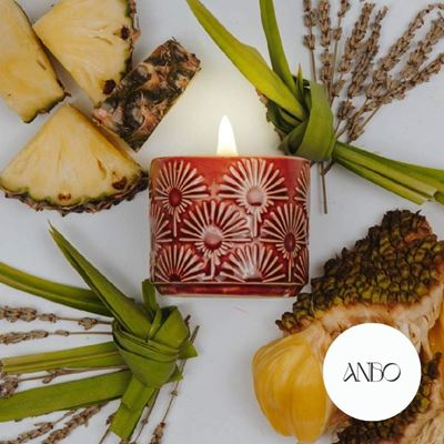 Picture of Scented Beeswax Candle - REJOICE by Anbo (Red)