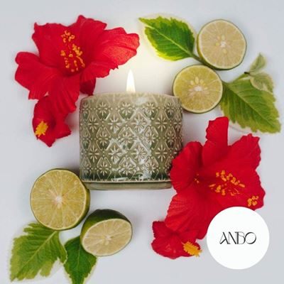 Picture of Scented Beeswax Candle - GRATITUDE by Anbo (Green)